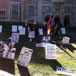 11 a.m.: Five ASA protestors, outside Kerckhoff Hall