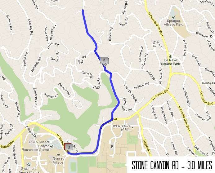 Mojo Four Running Routes Around UCLA - How to map out a run