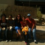 Edwards and her family at the Carlsbad Caverns / Dorian Edwards