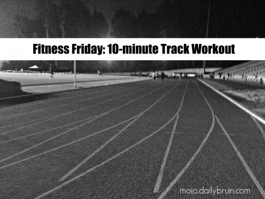 10-minute track workout