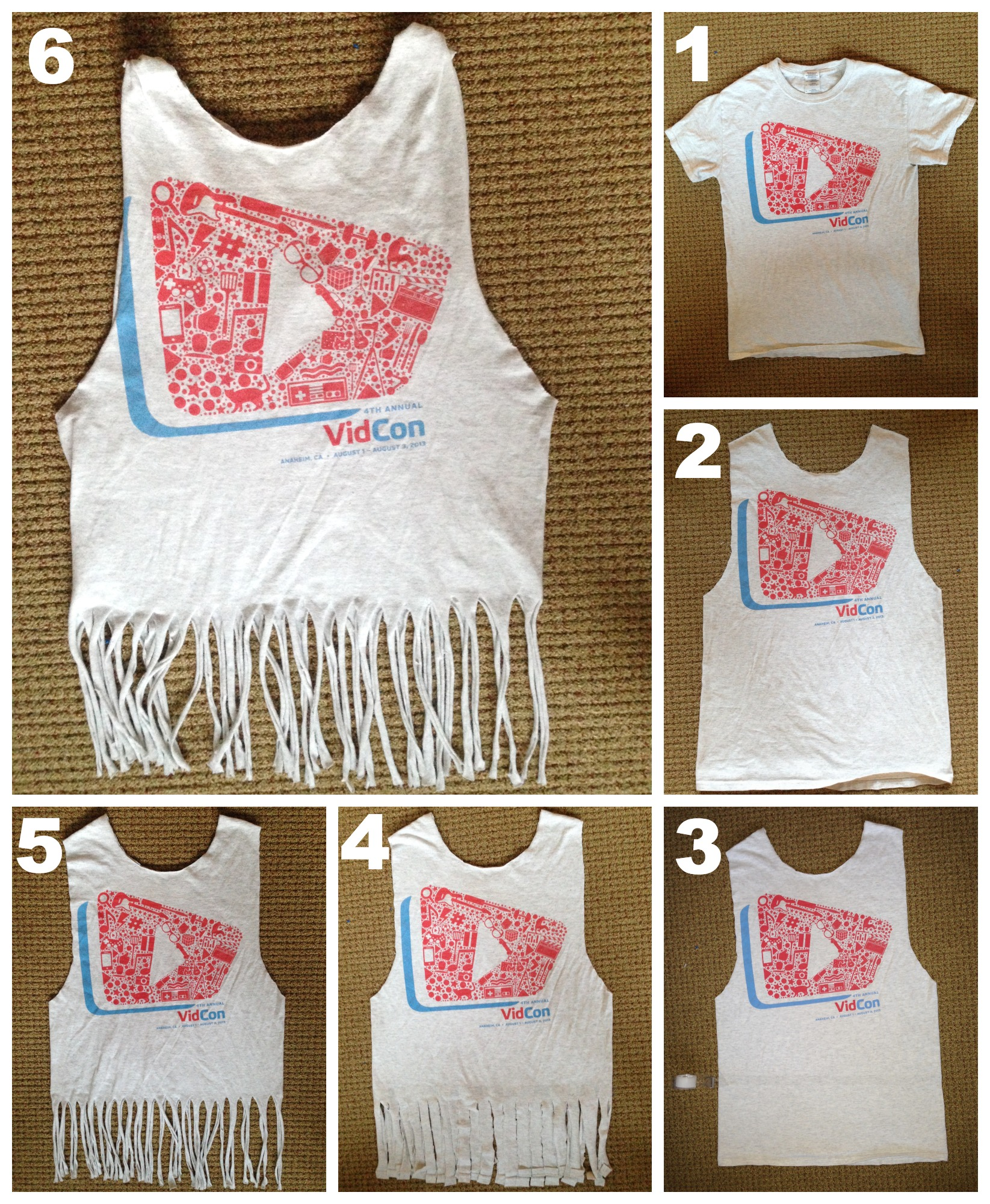 follow steps 1 and 2 from above to get the shirt into a tank top