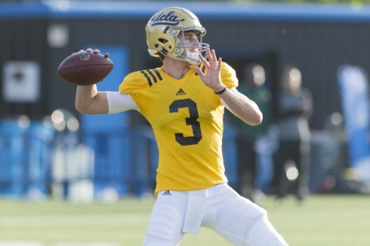 Freshman Josh Rosen was selected as UCLA's starting quarterback Wednesday. (Daily Bruin file photo)