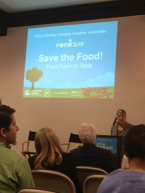 UC President Janet Napolitano speaks at UC Food Day 2015. (Jasmine Arooni/Daily Bruin)